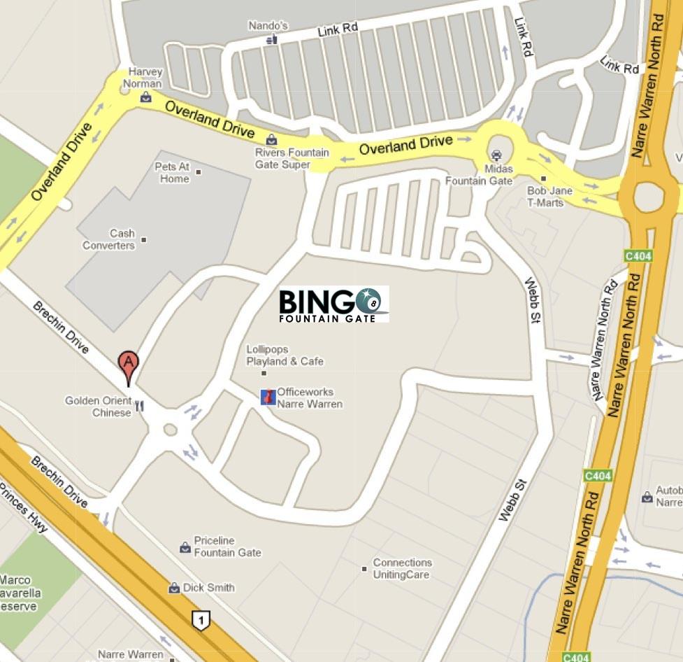 Fountain Gate Map Fountain Gate Bingo   Contact Us